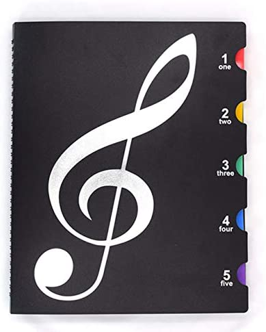 Wangyiqian Music Folder Document Organizer File Paper Storage Folder Sheet Music Holder File Portfolio Organizer for Choirs Student Teacher Musician (black)
