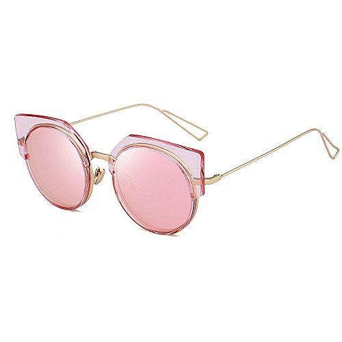 del Vacaciones Las Ultravioleta Color Peggy Semi exquisitas Rosado Verano Rosado Conducir para Las Ojos Sol Gu de de Mujeres la de Gafas Gato de sin rebordes Protección los para Playa qw11TR4xA