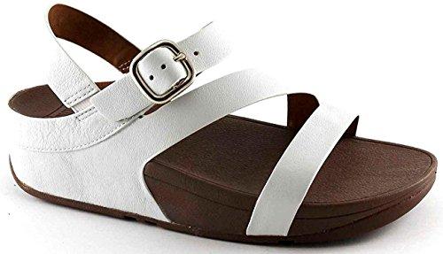 Fitflop Sandalias Flaco Z Cross E50194 Sandalias Blancas Blancas Zapatos Bianco