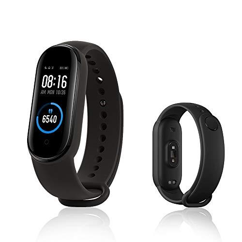 Xiaomi Mi Band 5 Smart-armband, activiteitentracker, fitnesstracker, 2,7 cm (1,1 inch), dynamisch kleurendisplay, zwart…