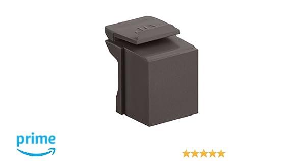 Brown 10-Pack Leviton 41084-BB Blank QuickPort Insert