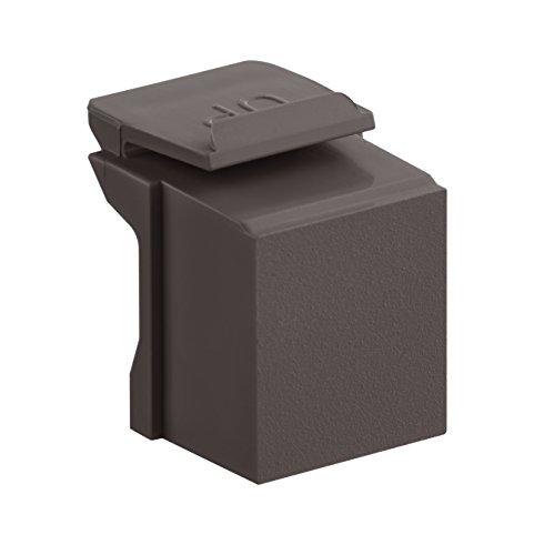 Leviton 41084-BB Blank QuickPort Insert (10-Pack), Brown
