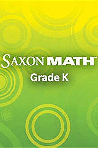 Saxon Math K: Workbook and Materials