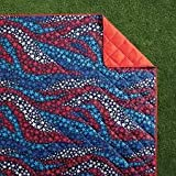 Mainstay Waving Star Outdoor Beach Blanket with Water Repellent Treatment