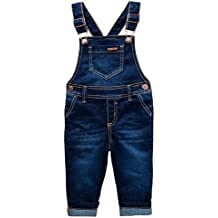 OFFCORSS Toddler Boy Denim Bib Overalls for Kids Dungarees Overol Para Niños