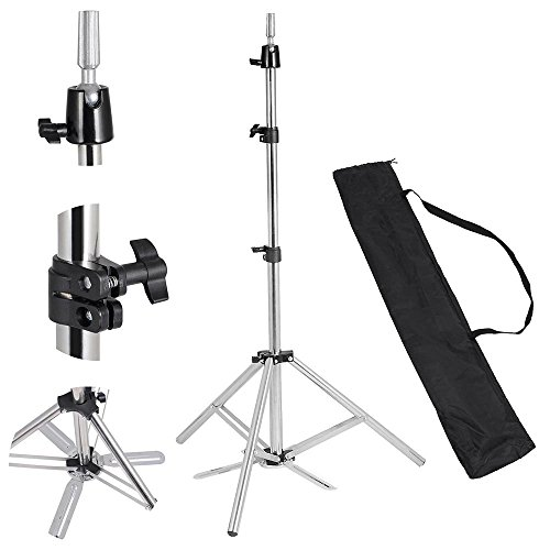 "Price comparison product image Hair Salon Adjustable 63"" Stainless Steel Tripod Stand Cosmetology Mannequin Training Head Holder Hairdressers Trainees"