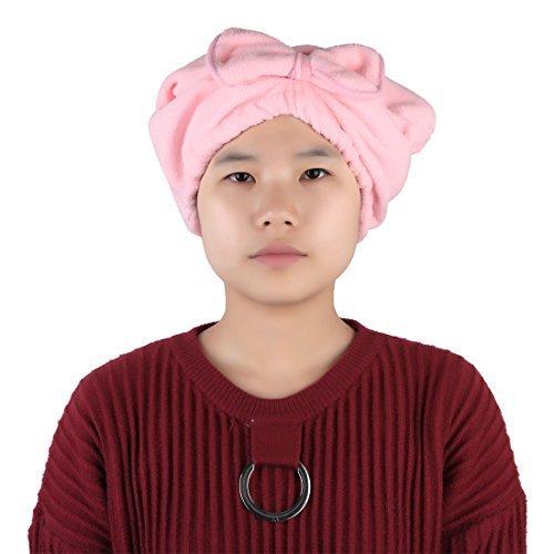 Amazon.com: eDealMax Rosa Cap Pelo Mujeres Baño Spa microfibra decoración Bowknot elástica Banda SECA: Home & Kitchen
