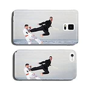 Men with practicing Marcial Arts on the beach cell phone cover case iPhone6 Plus