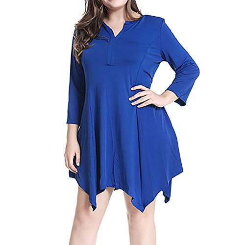 Oliviavan Women's Casual Plus Size Evening Party Ladies Solid Sexy Long Sleeve Mini Dress