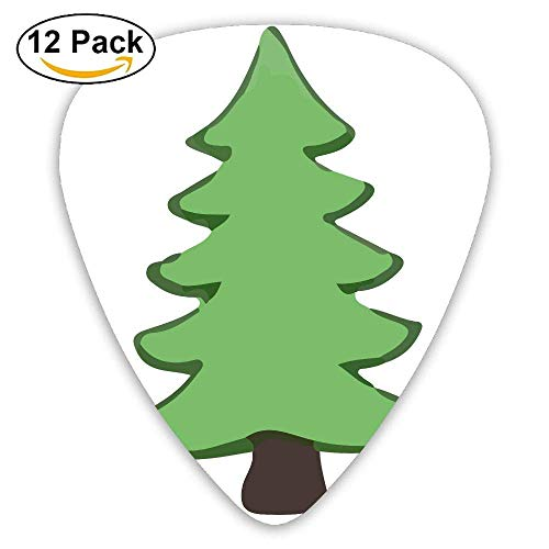 Tree Clipart-01 Classic Guitar Picks 16 Pack For Electric/acoustic Guitar,and Bass