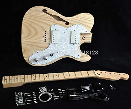 NEW 6 STRING ASH SEMI-HOLLOW BODY TL THINELINE STYLE ELECTRIC GUITAR BUILDER KIT