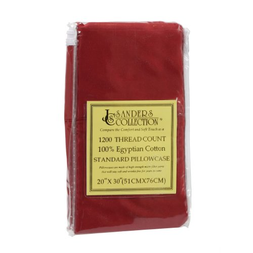 """Queen Size Burgundy 2pc PILLOW CASES 1200 Series - Standard 20"""" x 30"""" Inch - Available In Many Sizes And Colors"""