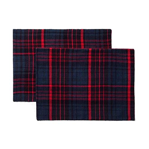 (Set of 2 Plaid Red/Blue - Hearth & Hand with Magnolia)