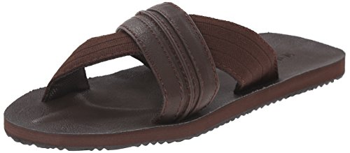 Mens Sandalo Tibsury X Band Slide Sandal Marrone