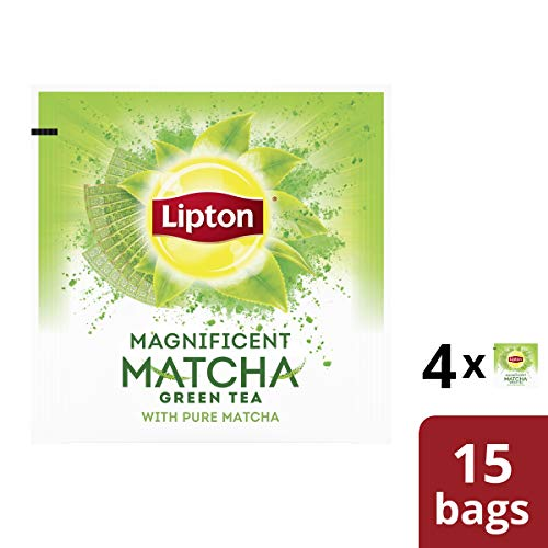 Lipton Green Tea Bags, Pure Matcha, 15