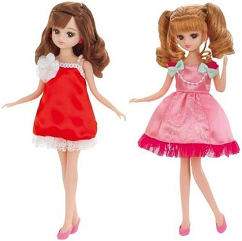 Licca-chan LW-17 party one-piece set (Apple & Peach) by TOMY