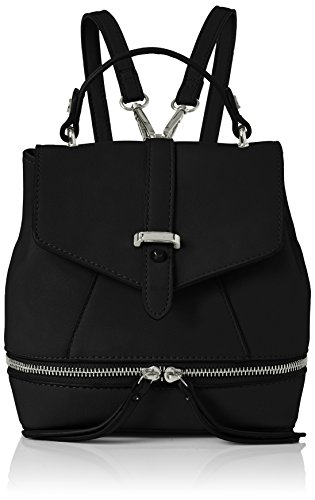 Swanky Swans Hula Faux Leather Backpack - Bolsos mochila Mujer Negro (Black)