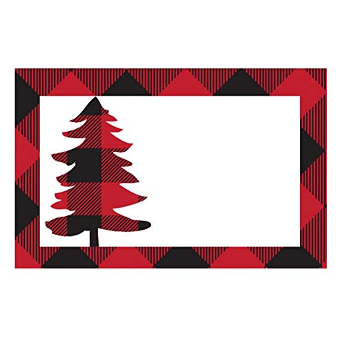 Buffalo Plaid Christmas Tree Enclosure Card