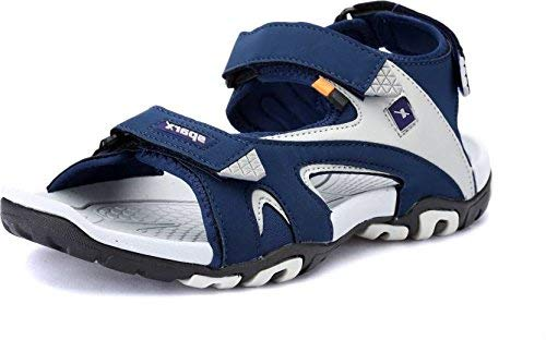 5bffd072e8e2 Sparx Men s Navy Blue and Grey Sandals (SS-453)  Buy Online at Low ...