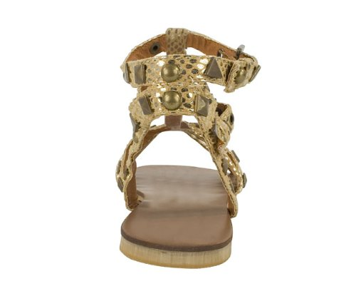 bf7c4bdd050 Priceless Womens Gold Gem Gladiator Sandals Size 8  Amazon.co.uk  Shoes    Bags