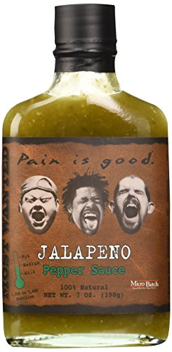 Pain Is Good Jalapeno Pepper Sauce, Medium, 7 oz