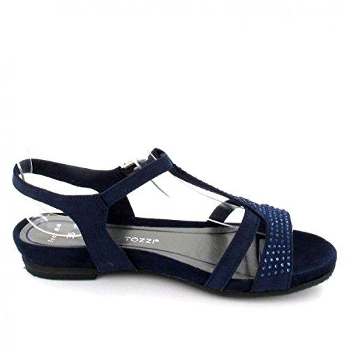 Marco Tozzi Sandalette , Farbe: blau
