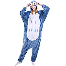 Fleeced Hoodie Costume Halloween Onesie Pajamas for Unisex Adults Teens