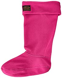 Joules Women\'s Welton Rain Boot Socks, Ruby, Large