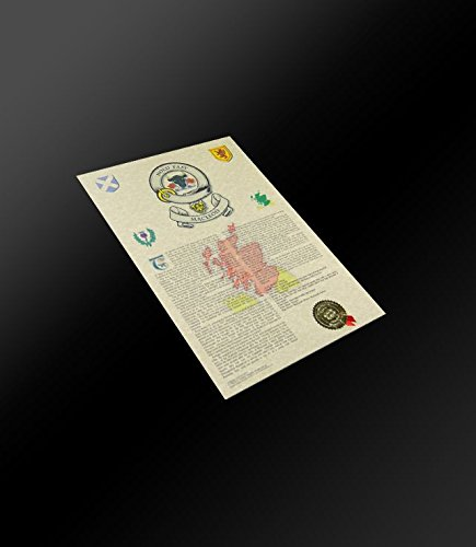 Goom of the clan MacIntosh - Clan Badge Armorial Name History Scroll - 11 x 17 Inches (A3) - Genealogy - Heraldry - Heraldic - Surname - Sept