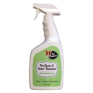 Plant-Based Pet Stain and Odor Remover. Clean up after your Dog/Cat without Harsh Chemicals. Works on Carpet, Fabrics and Hard Surfaces. Naturally Safe and Non-toxic for All. Made in the USA. 32fl oz