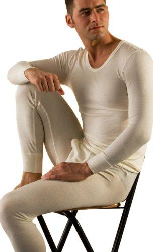 Hocosa Men's Long-Underwear Pants in Organic Merino Wool