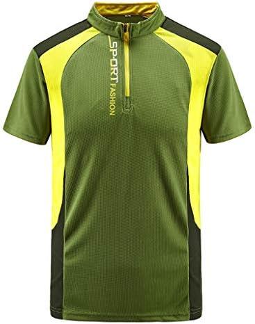 tシャツ メンズ おおきいサイズ ポリエステル ジップアップ XL~L7 Glennoky ファッション ヒップホップ かっこいい スポーツ トレーニング アウトドア 半袖シャツ ブラウス トップス ゆるtシャツ おしゃれ ゆったり 速乾 夏服