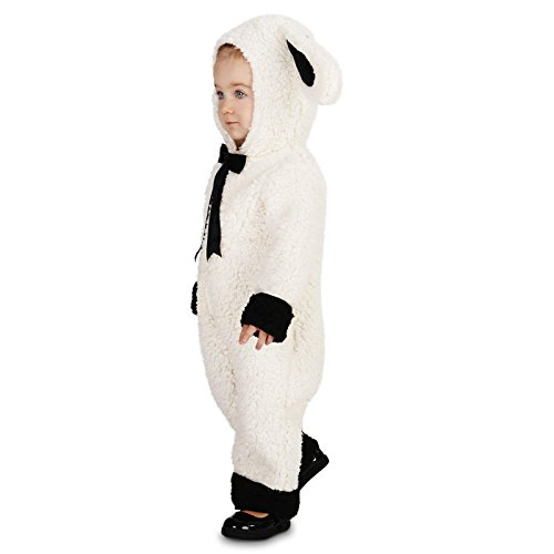 [Black and White Baby Lamb Infant Dress Up Costume 6-12M] (Baby Lamb Halloween Costumes)