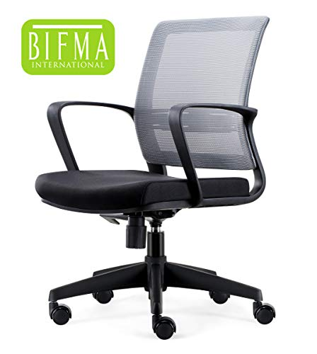 Chairlin Office Chairs Home Office Task Chair Ergonomic Computer Desk Chair Black Nylon Base