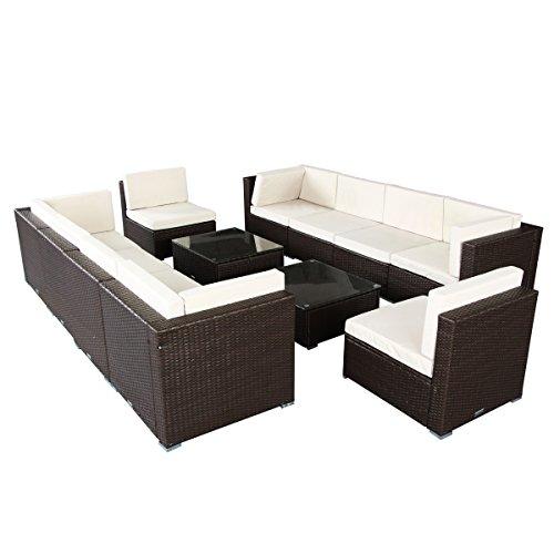 U-MAX 7 Piece 3-14 Pieces Patio PE Rattan Wicker Sofa Set Sectional Furniture (BR-12 Pieces)