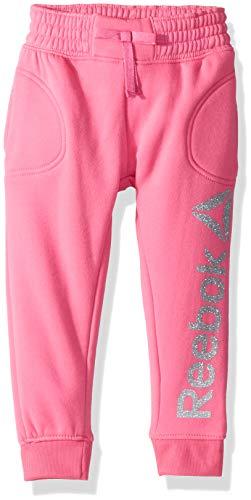 Reebok Girls' Big Spun Poly Fleece Comfy Jog Pant, Varsity Pink -