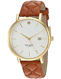 Women's 'Grand Metro' Quartz Stainless Steel and Leather Casual Watch, Color:Brown (Model: KSW1161)