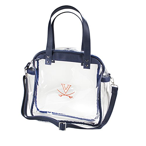 CAPRI DESIGNS CLEARLY FASHION LICENSED STADIUM COLLECTION CARRYALL TOTE---MEETS STADIUM REQUIREMENTS (University of Virginia) by CLEARLY FASHION