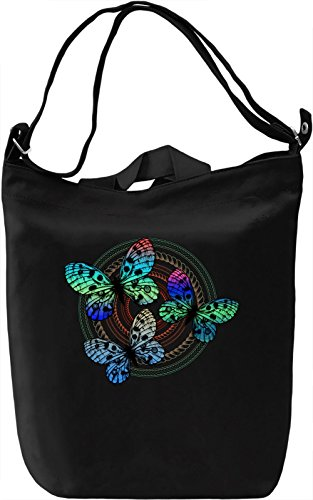 Colourful Butterflies Borsa Giornaliera Canvas Canvas Day Bag| 100% Premium Cotton Canvas| DTG Printing|