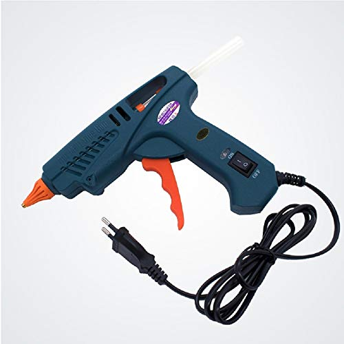 Glue Gun 100W Hot Melt with Tool Kit Include 11mm Glue Sticks Copper Nozzles Nozzle Covers Aluminium Spanner with Power Switch by LVH (Image #4)