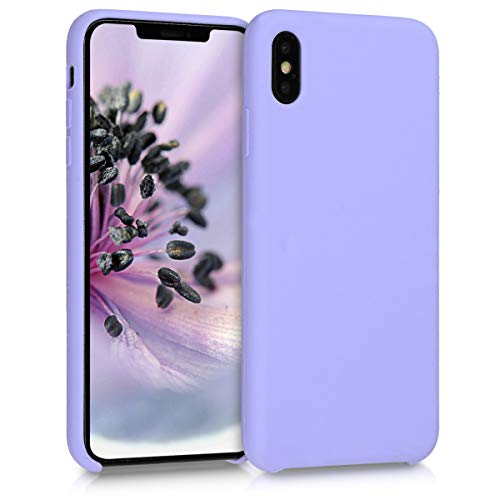 kwmobile TPU Silicone Case for Apple iPhone Xs Max - Soft Flexible Rubber Protective Cover - - Lavender Purple Iphone