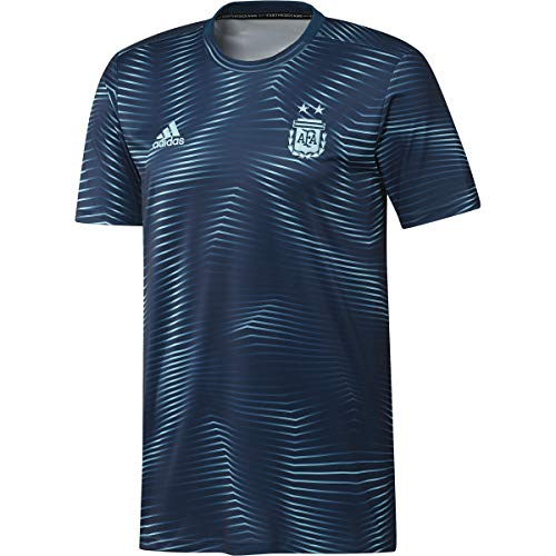 - adidas Men's AFA Argentina Home Prematch Jersey (Medium) Blue Unity/Lite Aqua