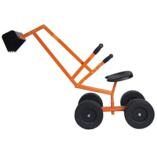 Orange Metal Sand Digger Hobbies Outdoor Toy & Structures Sand & Water Sandbox Toys and Sandboxes Hobby Preschool Toys Pretend Play Home & Games Play Conveyance Trucks Construction Vehicles, Outgoing from Lek Store