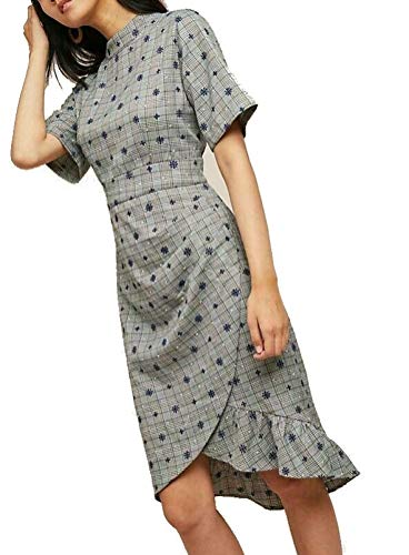 Anthropologie Embroidered Plaid Dress by Lenon Sz M - NWT from Anthropologie