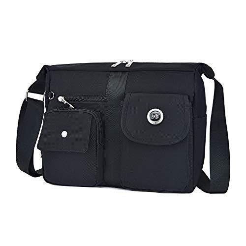 Fabuxry Women's Shoulder Bags Casual Purses Handbag Travel Bag Messenger Cross Body Bags(Black)