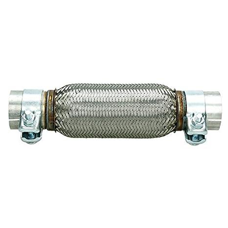 ECD-Germany Tuyau Flexible pour /échappement Auto Verrouillage en Acier Inoxydable de 56 x 150 mm avec des Pinces