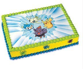 Edible Cake Decorations Pokemon : Amazon.com: Pokemon Edible Image Cake Topper: Kitchen & Dining