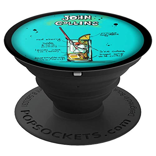 Cocktail Popsocket - Cocktail Pop Socket - John Collins - PopSockets Grip and Stand for Phones and Tablets