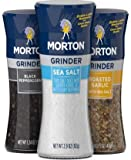 Morton Grinder Trio Tabletop Collection - Roasted Garlic w/Sea Salt, Black Peppercorns and Sea Salt