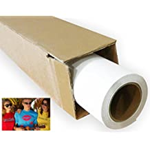 "24"" x 5 Yard White Printable Heat transfer Vinyl for T Shirt Fabric Printing"